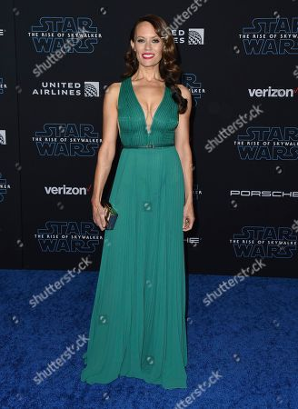 """Emily Swallow arrives at the world premiere of """"Star Wars: The Rise of Skywalker"""", in Los Angeles"""