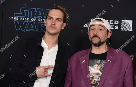 """Jason Mewes, Kevin Smith. Jason Mewes, left, and Kevin Smith arrive at the world premiere of """"Star Wars: The Rise of Skywalker"""", in Los Angeles"""