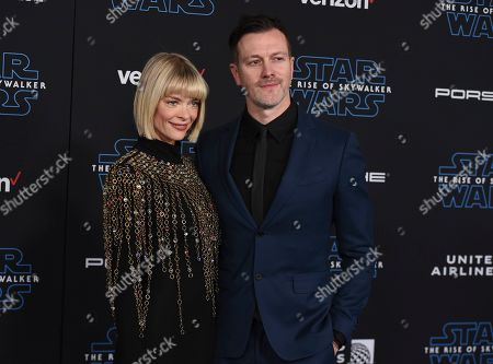 """Stock Picture of Jaime King, Kyle Newman. Jaime King, left, and Kyle Newman arrive at the world premiere of """"Star Wars: The Rise of Skywalker"""", in Los Angeles"""