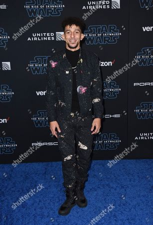"""Khleo Thomas arrives at the world premiere of """"Star Wars: The Rise of Skywalker"""", in Los Angeles"""