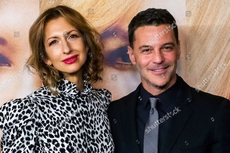 "Alysia Reiner, David Alan Basche. Alysia Reiner and David Alan Basche attend a screening of ""Bombshell"" at Jazz at Lincoln Center's Frederick P. Rose Hall, in New York"