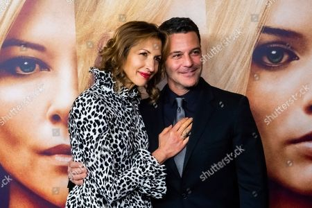 """Alysia Reiner, David Alan Basche. Alysia Reiner and David Alan Basche attend a screening of """"Bombshell"""" at Jazz at Lincoln Center's Frederick P. Rose Hall, in New York"""
