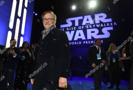 """Stock Image of Steven Spielberg arrives at the world premiere of """"Star Wars: The Rise of Skywalker"""", in Los Angeles"""