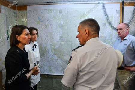 Editorial photo of New South Wales Premier Gladys Berejiklian meets Rural Fire Service chiefs, Wilberforce, Australia - 17 Dec 2019