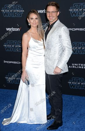 Stock Photo of Angela Lanter and Matt Lanter
