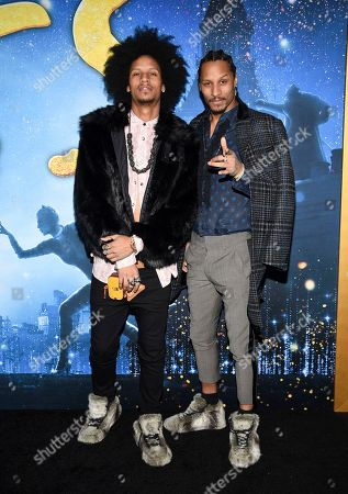 "Laurent Bourgeois, Larry Bourgeois. Actors Laurent Bourgeois, left, and Larry Bourgeois attend the world premiere of ""Cats"" at Alice Tully Hall, in New York"