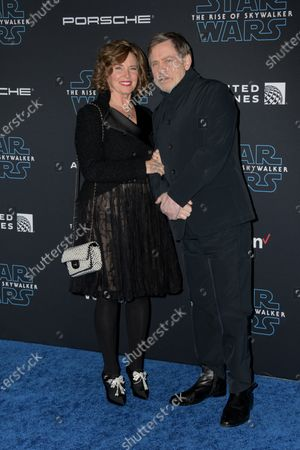 Mark Hamill (R) and his wife Marilou York (L) arrive at the premiere of Star Wars: The Rise of Skywalker at the El Capitan Theater in Hollywood, California, USA, 16 December 2019.