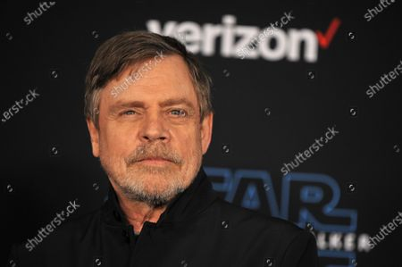 Mark Hamill arrives at the premiere of Star Wars: The Rise of Skywalker at the El Capitan Theater in Hollywood, California, USA, 16 December 2019.