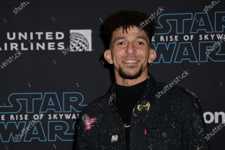 Khleo Thomas arrives at the premiere of Star Wars: The Rise of Skywalker at the El Capitan Theater in Hollywood, California, USA, 16 December 2019.