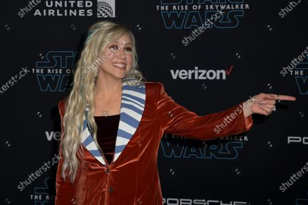 Stock Photo of Ashley Eckstein reacts as she arrives at the premiere of Star Wars: The Rise of Skywalker at the El Capitan Theater in Hollywood, California, USA, 16 December 2019.