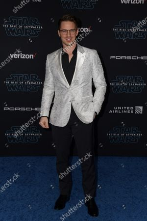 Matt Lanter arrives at the premiere of Star Wars: The Rise of Skywalker at the El Capitan Theater in Hollywood, California, USA, 16 December 2019.