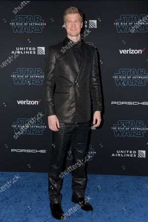 Joonas Suotamo arrives at the premiere of Star Wars: The Rise of Skywalker at the El Capitan Theater in Hollywood, California, USA, 16 December 2019.