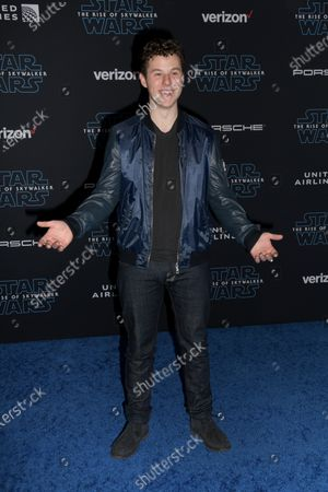 Nolan Gould arrives at the premiere of Star Wars: The Rise of Skywalker at the El Capitan Theater in Hollywood, California, USA, 16 December 2019.