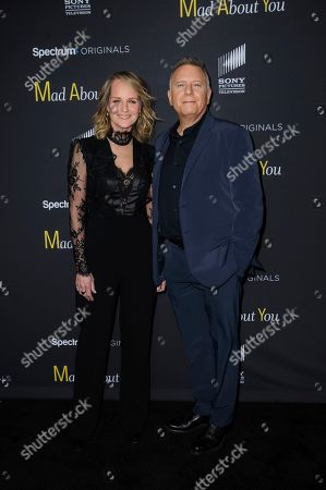 """Helen Hunt, left, and Paul Reiser attend the premiere of Spectrum Originals' """"Mad About You"""" at the Rainbow Room, in New York"""