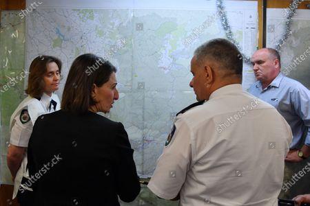 Editorial image of New South Wales Premier Gladys Berejiklian meets Rural Fire Service chiefs in, Wilberforce, Australia - 17 Dec 2019