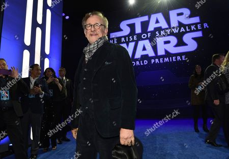 """Steven Spielberg arrives at the world premiere of """"Star Wars: The Rise of Skywalker"""", in Los Angeles"""