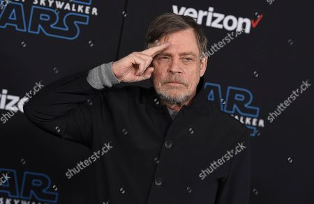 """Mark Hamill arrives at the world premiere of """"Star Wars: The Rise of Skywalker"""", in Los Angeles"""