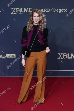 Chiara Schoras poses during the premiere of the third season of the TV series 'Babylon Berlin' at the Zoo Palast in Berlin, Germany, 16 December 2019 (issued 17 December 2019). The German crime drama is based on novels by author Volker Kutscher.