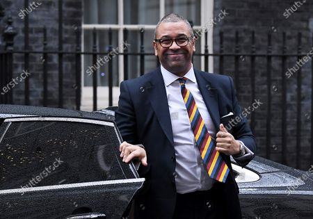 James Cleverly, Conservative Party Chairman, arriving at a cabinet meeting at No.10 Downing Street, London.