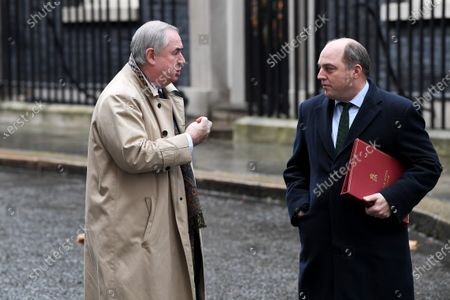 Geoffrey Cox, Attorney General, and Ben Wallace, Secretary of State for Defence, leaving a cabinet meeting at No.10 Downing Street, London.