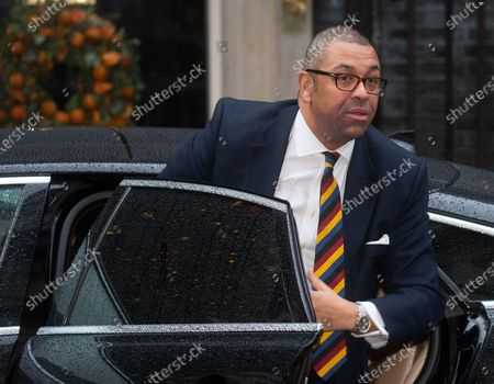 James Cleverly, Minister without Portfolio and Party Chairman, arrives in Downing Street for the first Cabinet meeting after the General Election.