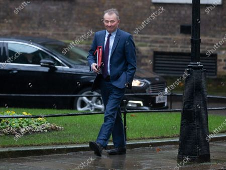 Simon Hart, Secretary of State for Wales, arrives in Downing Street for the first Cabinet meeting after the General Election. He has taken over from Alun Cairns.