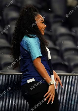 Stock Picture of Singer Morgan Connie Smith attends the match