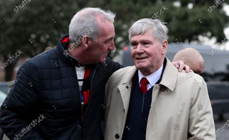 Pat Rice  with a supporter