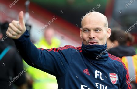 Freddie Ljungberg - who will be part of Arsenal's Head Coach (Manager) Mikel Arteta 's backroom staff having played an interim manager role - thumbs up