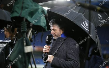 Former Chelsea player Andy Townsend working for Amazon Prime Sport on the sidelines