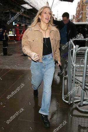 Ellie Goulding arriving for a BBC 1 Live Lounge Performance