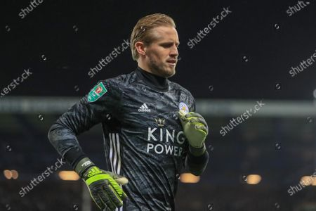 18th December 2019, Goodison Park, Liverpool, England; Carabao Cup, Everton v Leicester City : Kasper Schmeichel (1) of Leicester City during the gameCredit: Mark Cosgrove/News Images