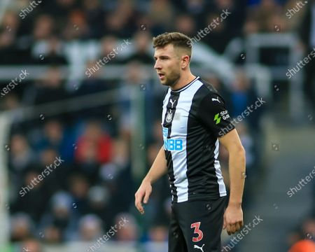 Stock Image of 21st December 2019, St. James's Park, Newcastle, England; Premier League, Newcastle United v Crystal Palace : Paul Dummett (03) of Newcastle United during the game