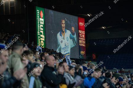 Nov 27th 2018 - Leeds  UK  - Leeds Utd V Reading - Leeds Utd Fans Salute Gary Speed Reading