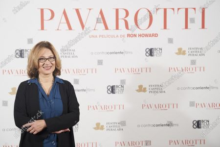 Stock Photo of Nicoletta Mantovani, President of the Luciano Pavarotti Foundation