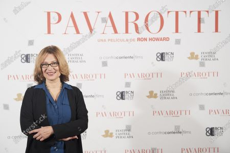 Stock Picture of Nicoletta Mantovani, President of the Luciano Pavarotti Foundation