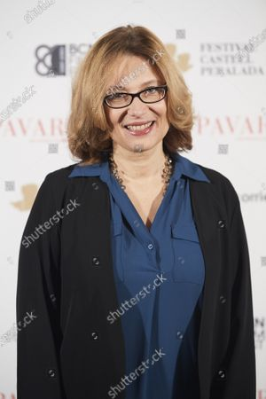 Stock Image of Nicoletta Mantovani, President of the Luciano Pavarotti Foundation