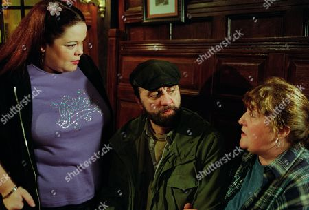 Ep 3049 Friday 16th November 2001 Paddy and Emily receive a blast from the past when Paddy's wife Mandy - complete with suitcase, arrives at their front door. Mandy is equally shocked to find Emily in the house. Mandy receives an equally mixed reception from others in the village. With Mandy Dingle, as played by Lisa Riley ; Zak Dingle, as played by Steve Halliwell ; Lisa Dingle, as played by Jane Cox.