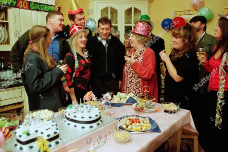 Ep 3045 Monday 12th November 2001 After all of Ashley's recent problems, the village decides to try and cheer him up by holding a surprise 40th birthday party for him in the vicarage. Ashley is shocked when he finds the place filled with his friends, but he's seemingly in no mood to celebrate. With Emily Dingle, as played by Kate McGregor ; Paddy Kirk, as played by Dominic Brunt ; Nicola Blackstock, as played by Nicola Wheeler ; Marlon Dingle, as played by Mark Charnock ; Ashley Thomas, as played by John Middleton ; Betty Eagleton, as played by Paula Tilbrook ; Zak Dingle, as played by Steve Halliwell, Lisa Dingle, as played by Jane Cox ; Tricia Fisher, as played by Sheree Murphy.