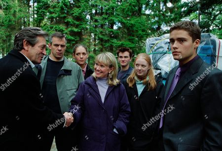Ep 3042 Wednesday 7th November 2001 A new family lands in Emmerdale and end up having a car accident with each other, forcing Scott to come to the rescue of Phil, Jess, Maggie, Lucy and Craig Calder. Scott is then flabbergasted as Rodney introduces them as the new management at the holiday village. Scott resigns. With Rodney Blackstock, as played by Patrick Mower ; Phil Weston, as played by Mark Jardine; Jess Weston, as played by Ruth Abram; Maggie Calder, as played by Dee Whitehead; Craig Calder, as played by Jason Hain; Lucy Calder, as played by Elspeth Brodie, Scott Windsor, as played by Ben Freeman.