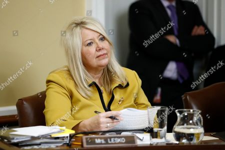 Rep. Debbie Lesko, R-Ariz., listens during a House Rules Committee hearing on the impeachment against President Donald Trump, on Capitol Hill in Washington
