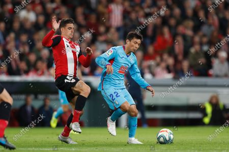 Dani Garcia of Athletic Bilbao, Takashi Inui of SD Eibar