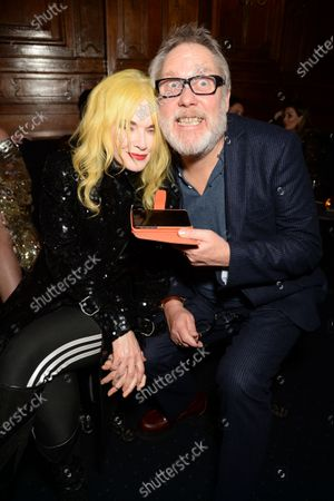 Stock Photo of Pam Hogg and Vic Reeves
