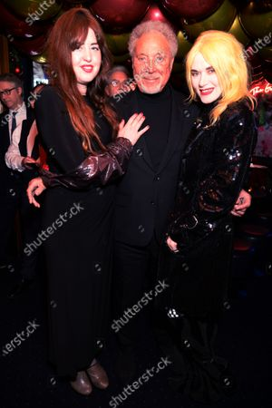 Stock Image of Guest, Tom Jones and Pam Hogg