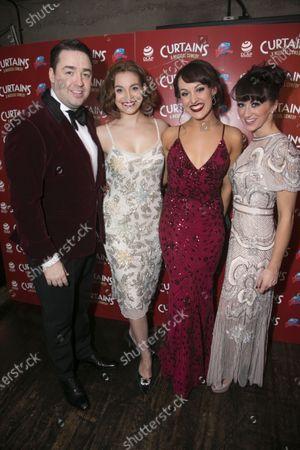 Jason Manford (Cioffi), Leah West (Niki Harris), Emma Caffrey (Bambi) and Nia Jermin (Jessica Crenshaw)