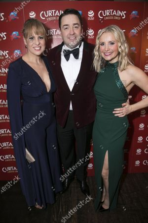 Rebecca Lock (Carmen), Jason Manford (Cioffi) and Carley Stenson (Georgia Hendriks)