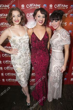 Stock Picture of Leah West (Niki Harris), Emma Caffrey (Bambi) and Nia Jermin (Jessica Crenshaw)