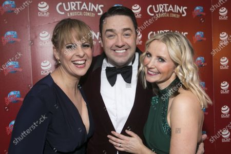 Stock Image of Rebecca Lock (Carmen), Jason Manford (Cioffi) and Carley Stenson (Georgia Hendriks)