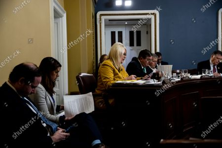 Stock Image of United States Representative Debbie Lesko (Republican of Arizona) speaks, to consider H. Res. 755 'Impeaching Donald John Trump, President of the United States, for high crimes and misdemeanors'