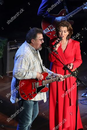 Amy Grant, Vince Gill. Vince Gill, left, and Amy Grant perform at Christmas at the Ryman at Ryman Auditorium,, in Nashville, Tenn